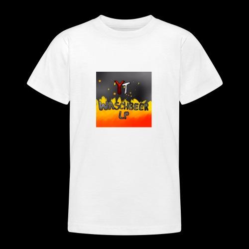 Waschbeer Design 2# Mit Flammen - Teenager T-Shirt
