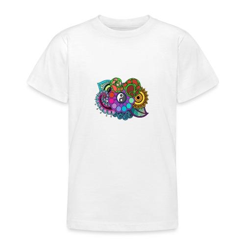 Coloured Nature Mandala - Teenage T-Shirt