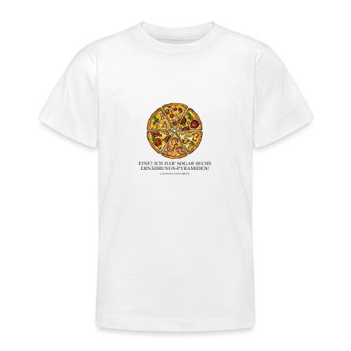 Ernährungspyramide aus Pizza - Teenager T-Shirt