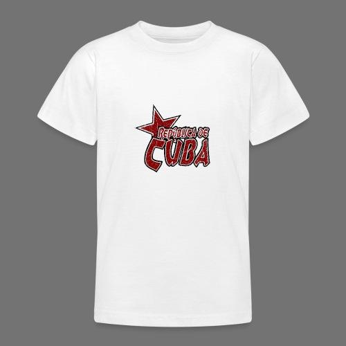Republica de Cuba mit Stern (oldstyle) - Teenager T-Shirt