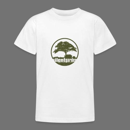 hiljainen puutarha (vihreä oldstyle) - Nuorten t-paita