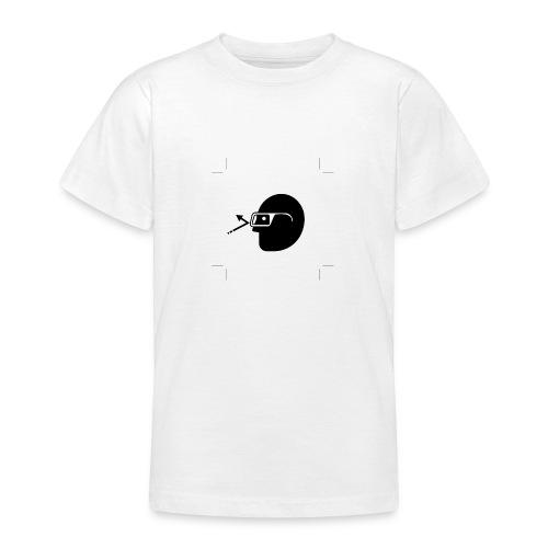 Kopf mit Brille - Teenager T-Shirt