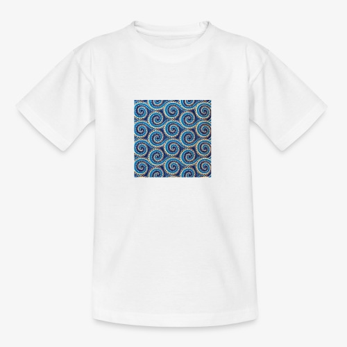 Spirales au motif bleu - T-shirt Ado