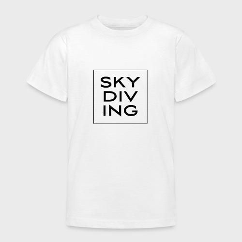 SKY DIV ING Black - Teenager T-Shirt