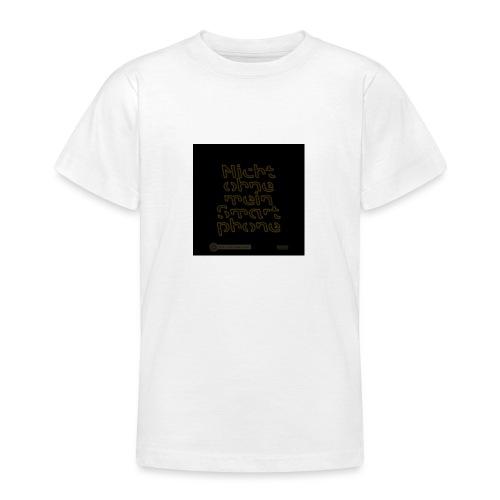 Design Nicht ohne mein Smartphone gold 4x4 - Teenager T-Shirt