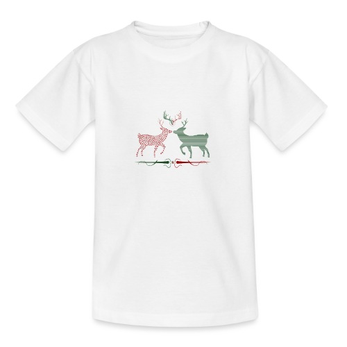 Christmas deer - Teenage T-Shirt