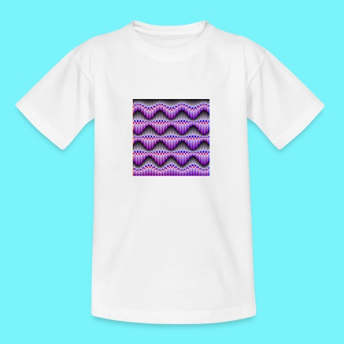 Sine waves in red and blue - Teenage T-Shirt