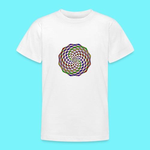 Mandala in rainbow colours - Teenage T-Shirt