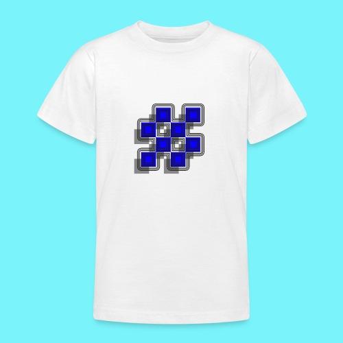 Blue Blocks with shadows and perimeters - Teenage T-Shirt