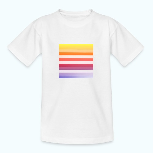 Rainbow Abstract Acrylic Painting - Teenage T-Shirt