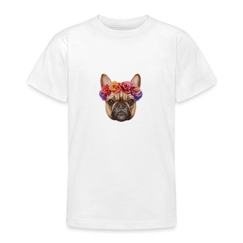 Buldog w Kwiatkach - Koszulka młodzieżowa