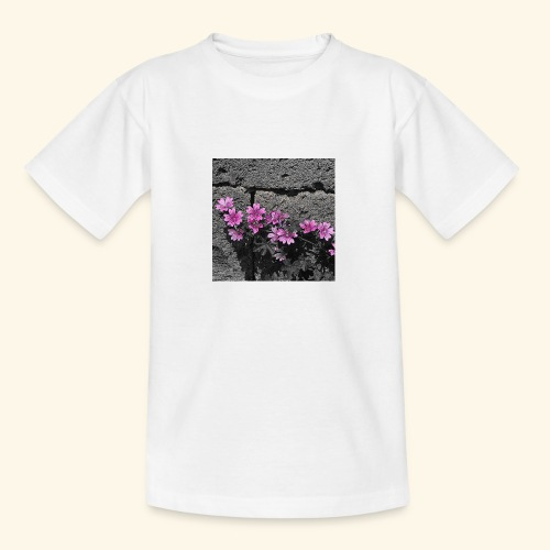 Fiori viola disegnati - Maglietta per ragazzi