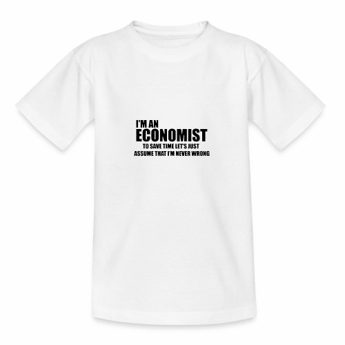 Black Iam An Economist - Teenager T-Shirt