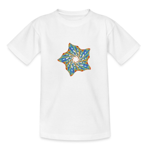 Bunter Seestern mit Dornen 9816j - Teenager T-Shirt