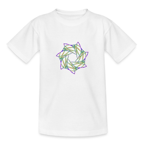 Chakra Mandala Mantra OM Chaos Stern 12088grbw - Teenager T-Shirt