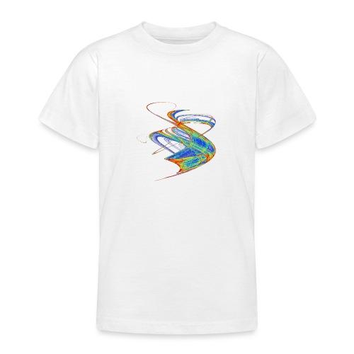 Farbenwind buntes Chaos Aquarell 13720 jet - Teenager T-Shirt