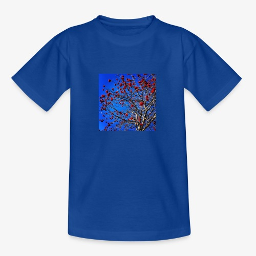 Red Flowers and Blue Sky - Maglietta per ragazzi