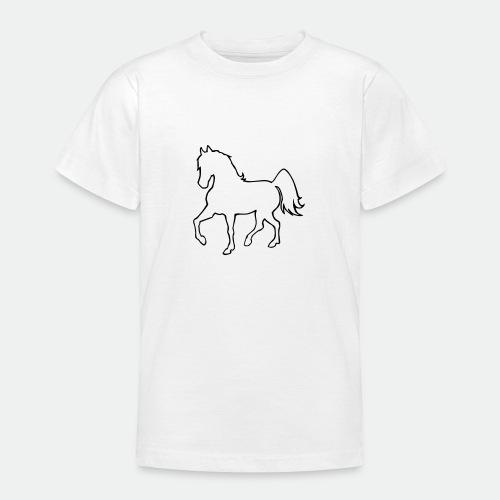 Proud Horse Outline - Teenage T-Shirt