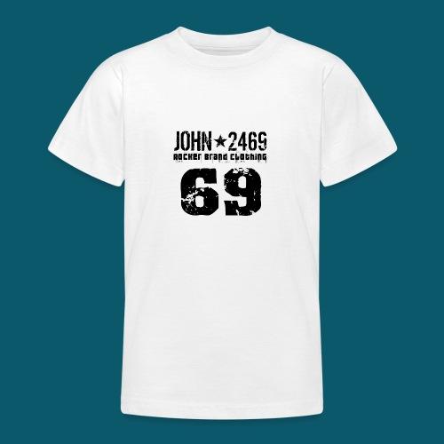 john 2469 numero trasp per spread nero PNG - Maglietta per ragazzi