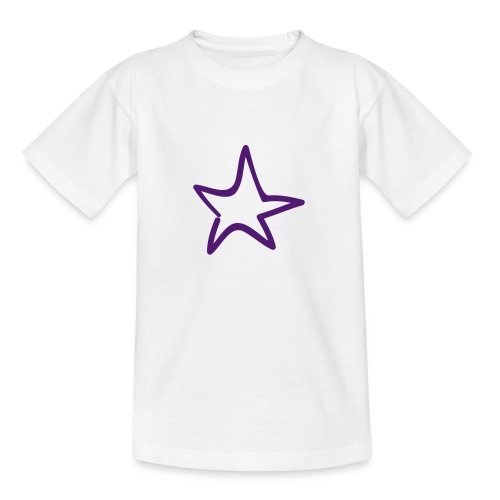 Star Outline Pixellamb - Teenager T-Shirt