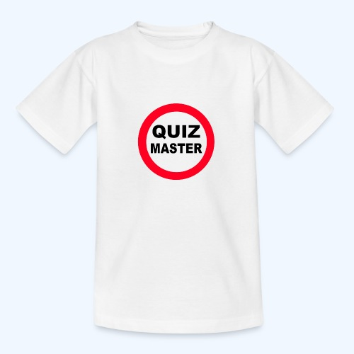 Quiz Master Stop Sign - Teenage T-Shirt