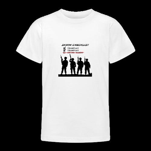 Skirm Checklist - Teenager T-shirt