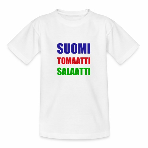 SUOMI SALAATTI tomater - T-skjorte for tenåringer