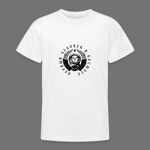 Kosmonautti 1c musta (oldstyle) - Nuorten t-paita