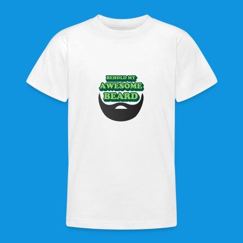 Awesome Beard - Teenage T-Shirt