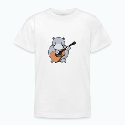 Henri Hippo Guitar - Appelsin - T-shirt tonåring