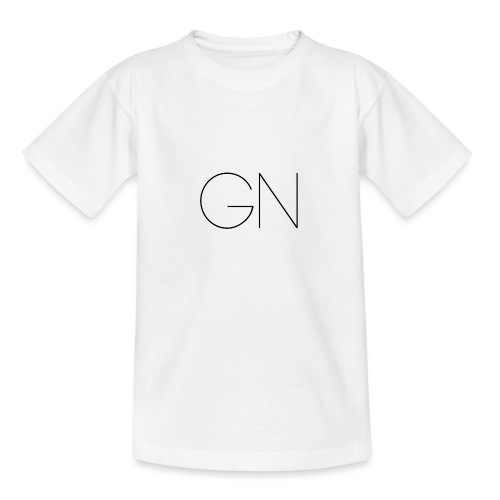 Långärmad tröja GN slim text - T-shirt tonåring