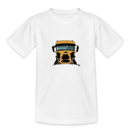 0812 F truck geel - Teenager T-shirt