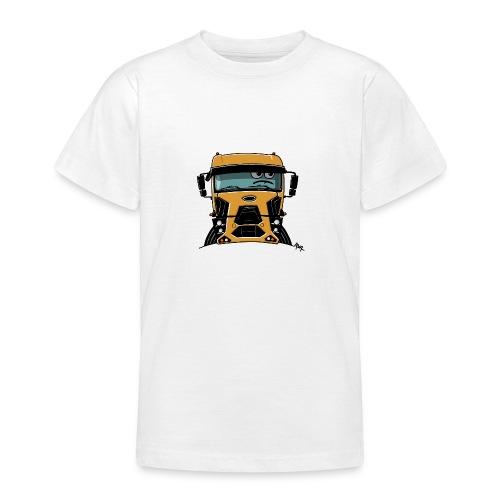 0812 F truck geel - Teenager T-shirt