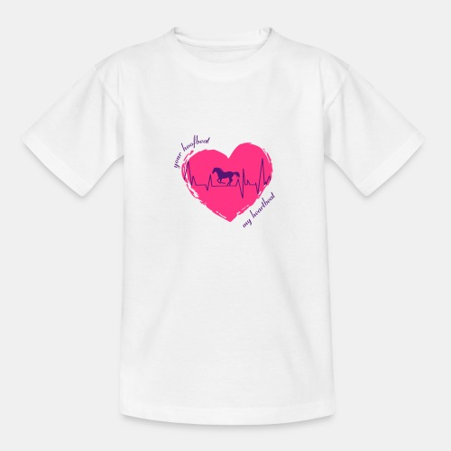 your hoofbeat is my heartbeat galopp_pferd - Teenager T-Shirt