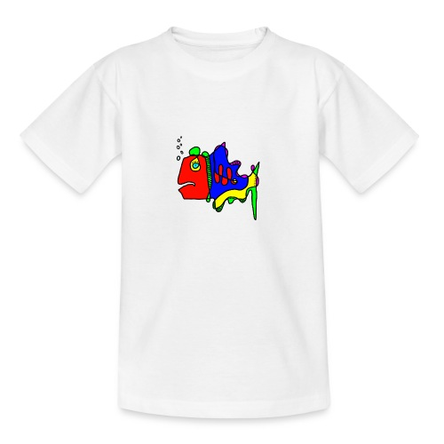 Tusche Fisch --- one line - Teenager T-Shirt