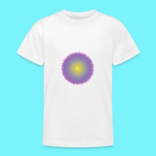 Fibonacci based image with radiating elements - Teenage T-Shirt