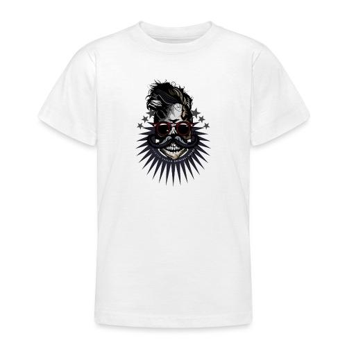 tete de mort hipster crane moustache skull logo lu - T-shirt Ado