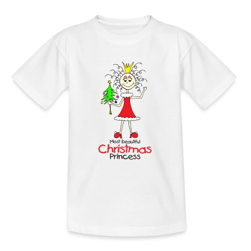 Most beautiful Christmas Princess - Teenager T-Shirt