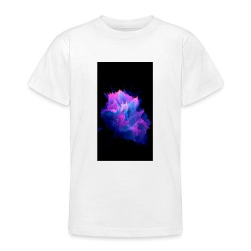 Purple and blue paint splat - Teenage T-Shirt