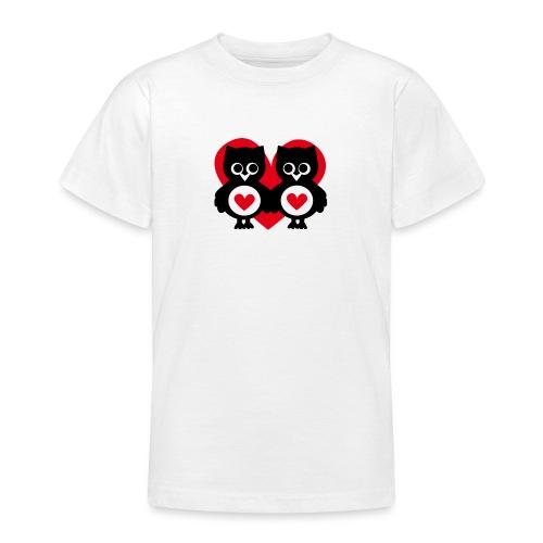 verliebte Eulen - Teenager T-Shirt