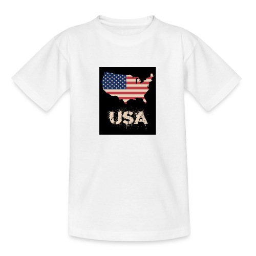 USA FLAG 4th of July With Flag - T-shirt tonåring
