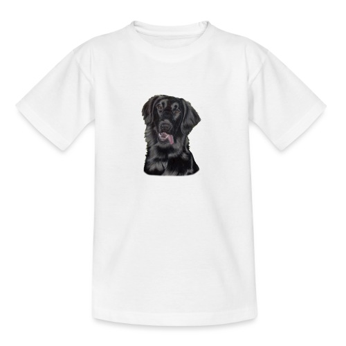 flatcoated retriever pastels - Teenager-T-shirt