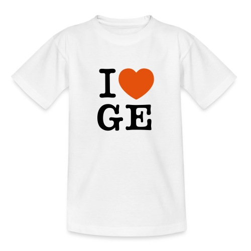 I Love Ge - Teenager T-Shirt