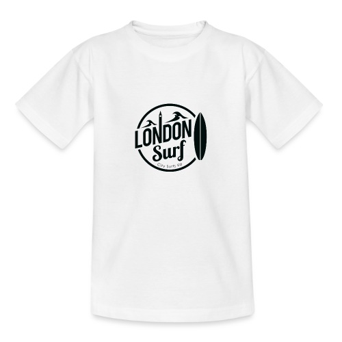 London Surf - Black - Teenage T-Shirt