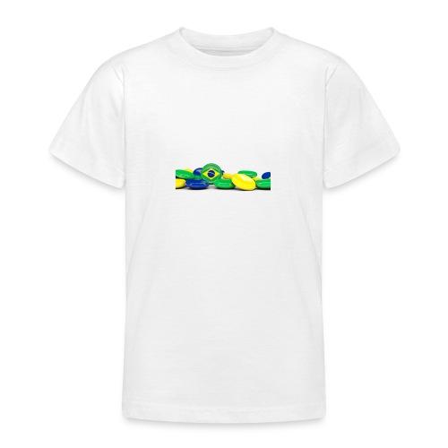Encontro Bandeira do Brasil - Teenage T-Shirt