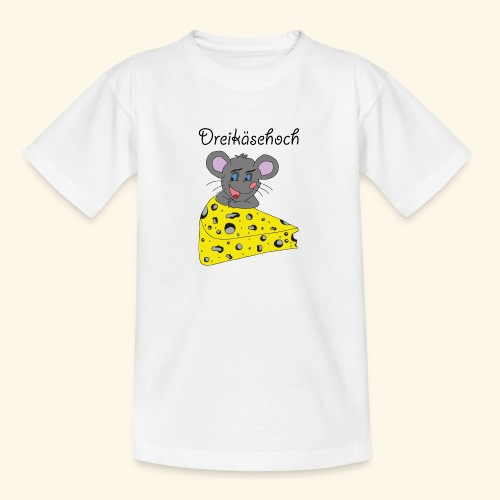 Dreikäsehoch - schwarze Schrift - Teenager T-Shirt