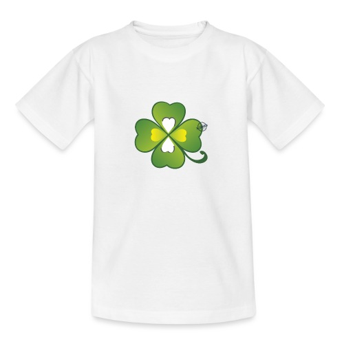 Clover - Symbols of Happiness - Teenage T-Shirt