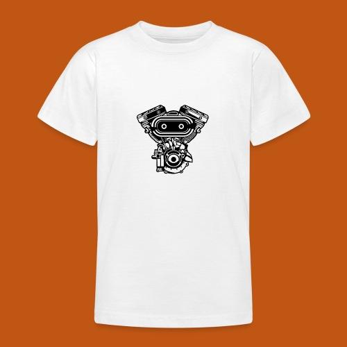 Motorrad Motor / Engine 02_schwarz - Teenager T-Shirt