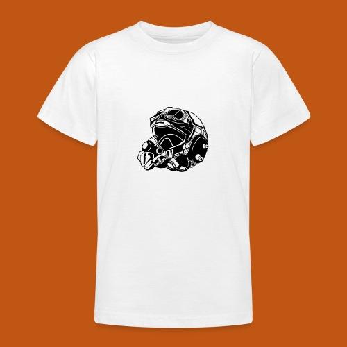 Pilotenhelm / Pilot Helmet 01_schwarz - Teenager T-Shirt