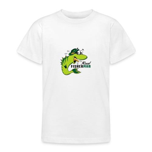 10-38 REAL FISHERMAN - TODELLINEN KALASTAJA - Nuorten t-paita